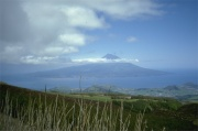 Faial - View to Vulcano at the island Pico